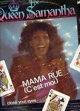 QUEEN SAMANTHA mama rue 12INCH 45 RPM HOLLAND 1980 EX KILLROY