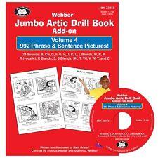 Jumbo Articulation Drill Phrase & Sentence Book & Cd Volume 4 Super Duper Speech