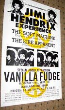 Jimi Hendrix Oakland Concert Poster 1968 Lot Of 10 While They Last Flea Market