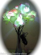 10 pièces éclairage led bouquet de fleurs blanc rosé roses Décoration table 249