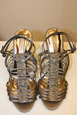 BCBG MAX AZRIA STORE TRY ON GRAY GOLD LEATHER SOLE SIZE 9