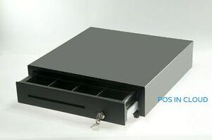 """NEW 16"""" Cash Drawer for POS Heavy Duty, RJ-11 Key-Lock w 5-Bill & 8-Coin Tray"""