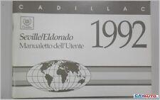 Libretto Uso e Manutenzione originale CADILLAC SEVILLE 1992 ITALIANO INTROVABILE