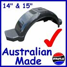 2 x BLACK BOAT & BOX BIKE TRAILER PLASTIC MUDGUARDS SUIT 14-15 INCH WHEELS TYRES
