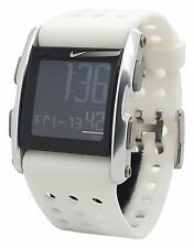 New Nike Torque SI WC0067 178 White Silicone Silver Sports Fitness Mens Watch