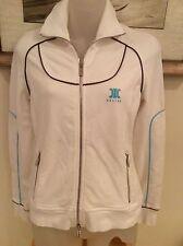 Celine White full zip Athletic Jacket SZ medium