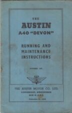 AUSTIN A40 DEVON SALOON 1947-52 ORIG. OWNERS INSTRUCTION & MAINTENANCE HANDBOOK