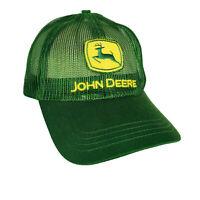 John Deere Hat All Mesh Green Embroidered Adustable Trucker Cap Yellow