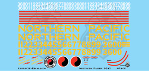 Northern Pacific SD45 G Scale Decal Set