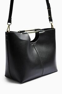 TOPSHOP   TINA Black Bar Tote Bag black  BNWT