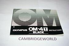 Olympus Om-4T Om4 Slr Camera Instruction Manual Guide Book Original Genuine