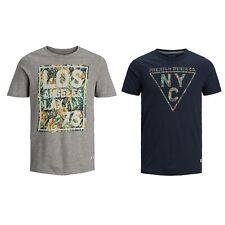 Jack&Jones Hombre Camiseta corta Cuello redondo 21925