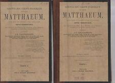 sanctum jesu christi evangelium secundum matthaeum - j.a. van steenkiste