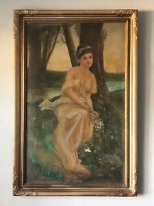 18TH CENTURY ANTIQUE FIGURATIVE OIL PAINTING - OLD MASTER WOMAN LADY PORTRAIT