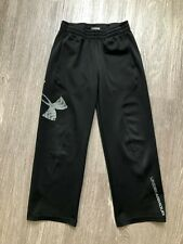 11/1 Boys Under Armour Heatgear Loose Athletic Sweatpants Size 6 Black Gray
