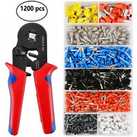 1200pcs Wire Terminal Crimp Connector Insulated Uninsulated Wire End Ferrules