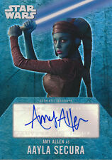 Star Wars Evolution Autograph Auto Amy Allen Aayla Secura (B)