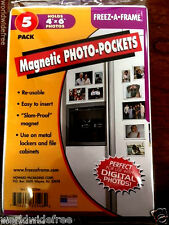"""Set Of 10 Freez-A-Frame, Magnetic 4"""" x 6"""" Photo Frame. Made in USA"""