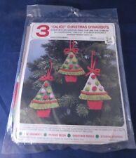 "Vintage ""Calico"" Christmas Tree Ornaments Kit - Makes 3"