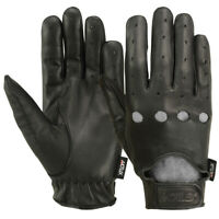 Men's Driving Gloves Chauffeur Car Motorcycle Unlined Leather Police Drivers MRX
