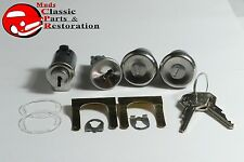 67 68 Chevy Truck Locks Ignition Door & Glovebox Original OEM GM Logo Keys