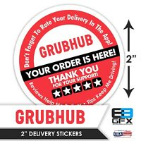 """Get More Ratings /& Tips! 2/"""" Postmates 5 STARS Delivery Bag Stickers 100 Pack"""