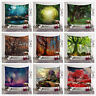 Art Forest Tree Hanging Wall Tapestry Bohemian Hippie Throw Bedspread Home Decor