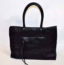 $295 Rebecca Minkoff MAB Large Tote Black Soft Pebbled Leather Bag 16x13x5 EUC!