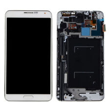 WHITE For Samsung Galaxy Note 3 N9005 LCD Display Touch Screen Digitizer+ Frame