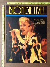 "Blondie Poster,13x18"" Rare Original,Record Company promo"