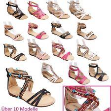 Sandalen für Mädchen aus Synthetik medium Breite mit Klettverschluss