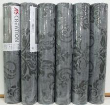 6 Rollen Vliestapete Memory 95372-3 Anthrazit-Grau Ornamente Barock Glitzer