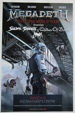 Megadeth Dawson Creek/Canada 2016 concert poster / metallica anthrax slayer