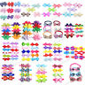 Mixed All Styles Pet Puppy Dog Cat Ribbon Bow Ties Collar Adjustable Dog Bowties