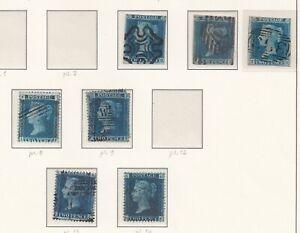 Lot:39448  GB QV  1841 2d Blue imperfs  2d blue plates