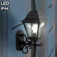 Außen Wand Lampe Garagen Glas Strahler Beleuchtung weiß ALU Haus Tür Laterne