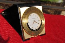 Luxor Travel Pocket World Time Watch 1960 Vintage Desk Clock nice conditions