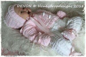 A4 PAPER KNITTING PATTERN * DEVON * 10+ ITEM Reborn/Baby Honeydropdesigns
