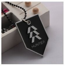Destiny Game Hunter Class Symbol Logo Metal Dog-Tag Pendant and Chain Necklace
