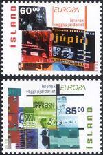 Islanda 2003 EUROPA/Poster Art/Design/teatro/cinema/musica 2 V Set (is1039)