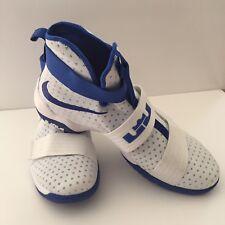 cheap for discount f7251 026b2 Nike Lebron LBJ Soldier 10 Mens size 17.5 White Royal Blue model 856489-140