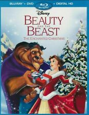 BEAUTY AND THE BEAST Enchanted Christmas (Blu-ray+ DVD) + Case *NO DIGITAL CODE*