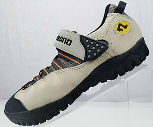 Shimano SPD Mountain Bike Cycling Shoes Biege Suede/Leather Mens Sneakers US 6