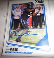 RICHIE JAMES, WIDE RECEIVER, AUTOGRAPHED RC, 2018 SCORE 407, DRAFTED BY 49ERS