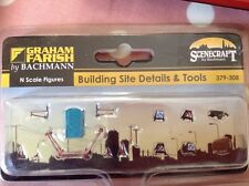 Graham Farish By Bachmann. 379-308. Building Site Details And Tools.  N.