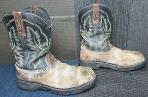 Mens ARIAT Workhog XT Waterproof Carbon Toe Leather Work Boots sz 12 D