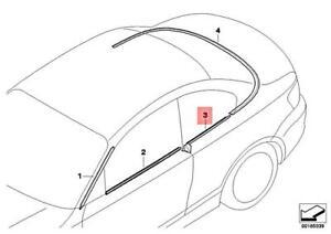 Genuine BMW E88 118d 118i 120d 120i 123d Outer Weatherstrip Left 51377190877