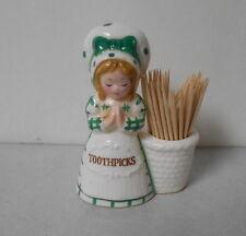Norcrest Girl Toothpick Holder Bonnet & Apron