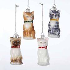 Cat Noble Gems Glass Ornament