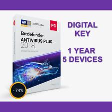 [ACTIVATION KEY] Bitdefender Antivirus PLUS 2018 Multi-Device: 1 year,5 devices